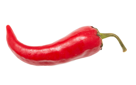 spice: red hot peppers on a white background