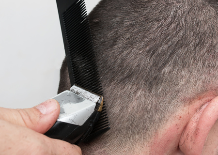 haircut: Mans haircut