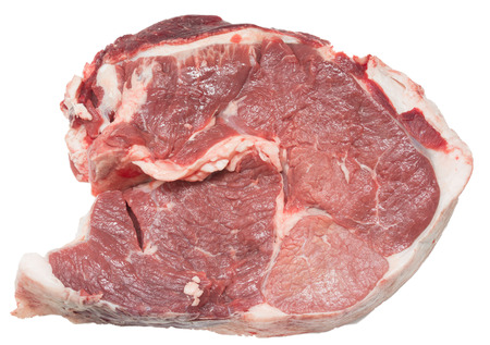 Beef pulp on a white background
