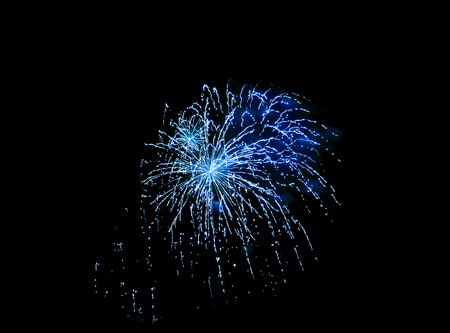 colorful lights from fireworks on a black background