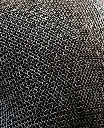 woven material from metal kk background