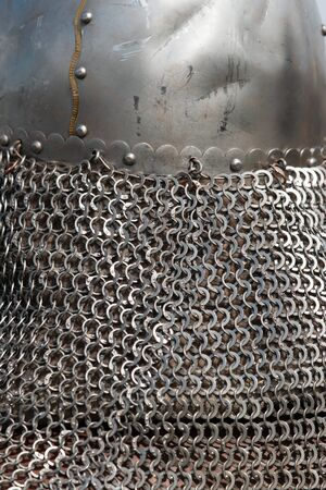 iron wicker clothes as a background Stock Photo