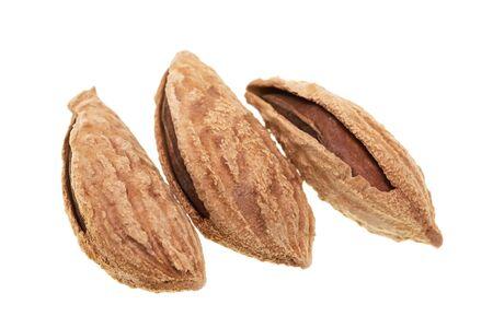 almond nut on white background Фото со стока - 133225326