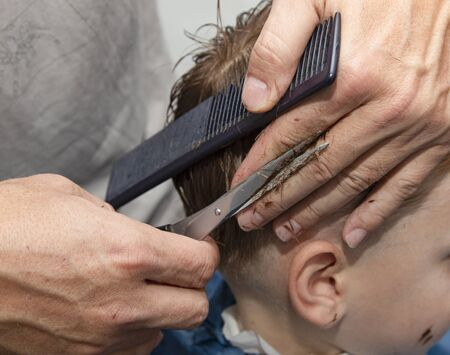 child haircut in the salon