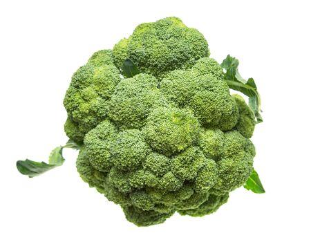 broccoli cabbage on white background