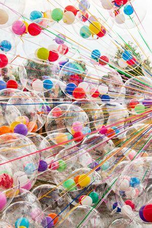 colorful transparent balls Фото со стока