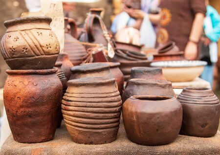 dishes of clay of various sizes and shapes