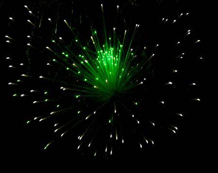 fireworks lights on black background