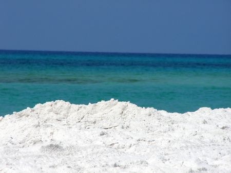 gulf of mexico: Beach along the Gulf of Mexico.