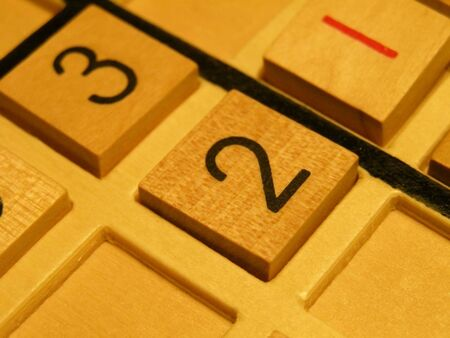 Wood sudoku board and tiles. Stock fotó