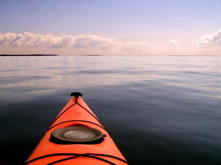 kayak: Sunset kayaking on the Potomac River. Westmoreland State Park.