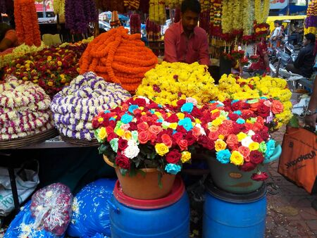 the seller: Flower seller
