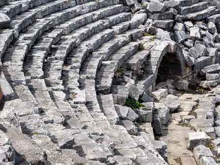 greek temple: Ruins of Ancient greek temple of Letoon. Xanthos, Lycia , Turkey. Stock Photo