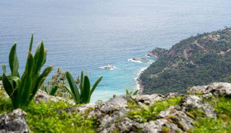 Landscape of Turkish coast of mediterranean sea. Reklamní fotografie
