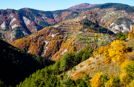 bulgarian: Motley autumn in Bulgarian mountain.