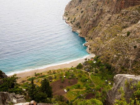 beach butterfly: The beach of Butterfly valley. Faralya, Turkey.