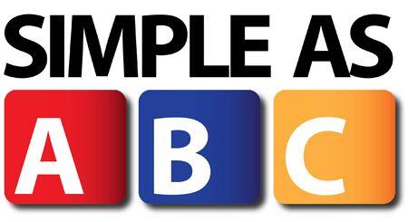 Simple As ABC Stock Vector - 17002138
