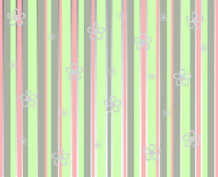 Background lines with flowers Illustration