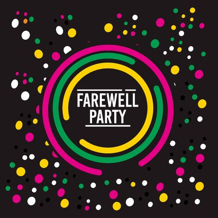 Flat Farewell Party design on black