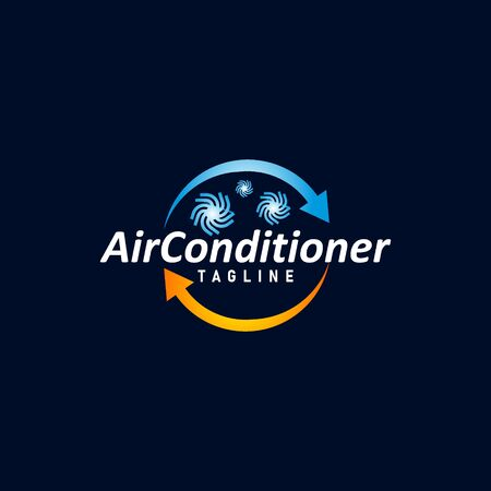 Air condition logo concept vector. Technology device for adjust air condition. Cooler device logo template vector