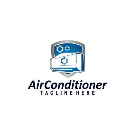 Air condition logo concept vector. Technology device for adjust air condition. Cooler device logo template vector Logo