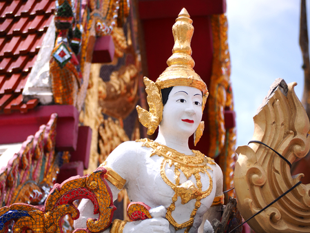 faerie: Angel statue Thailand style in temple, Asia Stock Photo