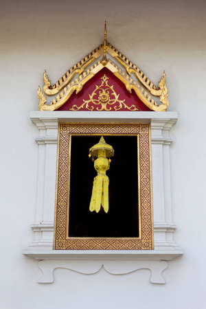 Wat Prasingha decorate their windows with Lanna style lamp for the festival Stock Photo - 12516611