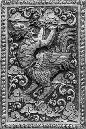 Silver handicraft animal in Ramayana, Chiangmai, Thailand