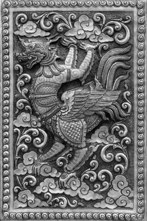 Silver handicraft animal in Ramayana, Chiangmai, Thailand