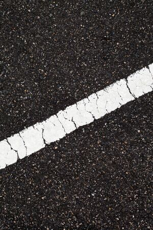 Asphalt with slope white line