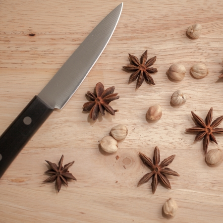 Spices set which contain Cardamon Fruit and Star Anise