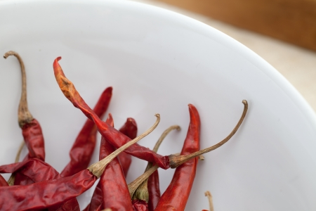 Dried Red Chilli Stock Photo