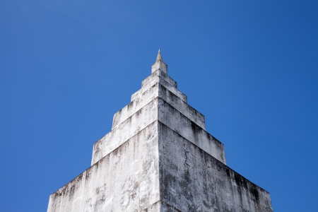 White Pagoda with Blue Sky  Stock Photo