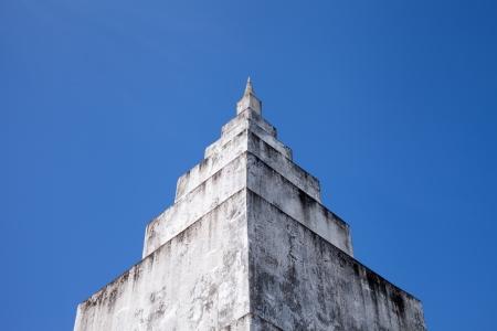 White Pagoda with Blue Sky  Stock Photo