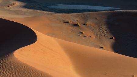 Sand Dunes in the Namib Naukluft Park, Sossusvlei, Namibia Stok Fotoğraf