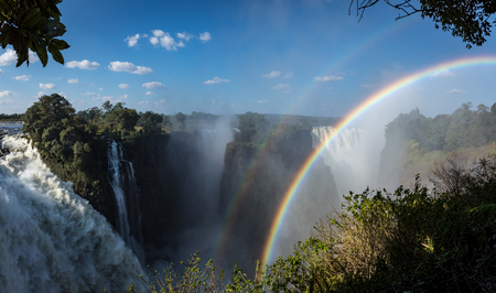 View of the Devils Cateract at Victoria Falls in Zimbabwe in the month of May