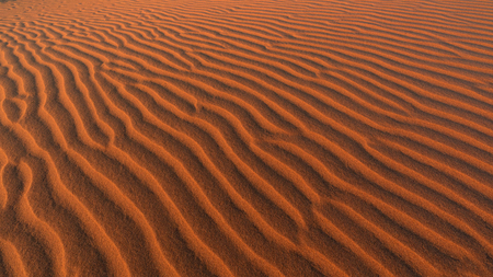 Ripples formed in the sand from wind, Namib Desert, Namibia Stok Fotoğraf
