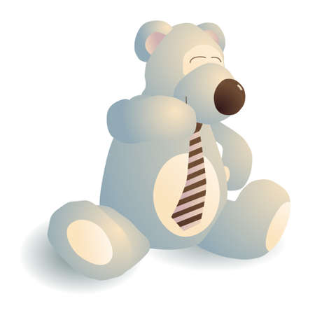 giggling: Giggling bear with a tie