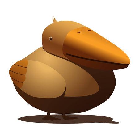 Dodo like seagull, bird Vector