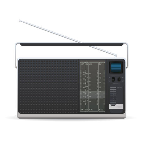 am radio: Old fashioned radio on a white background