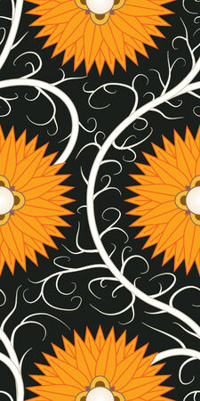 Orange flower seamless pattern Vector