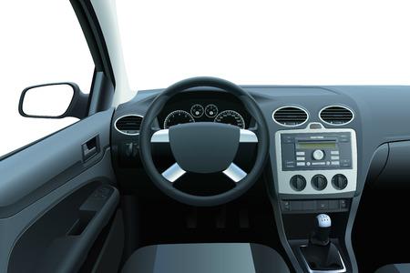innen: Auto-Dashboard und Interieur