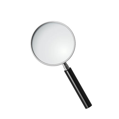 inquire: Magnifying glass,  Illustration