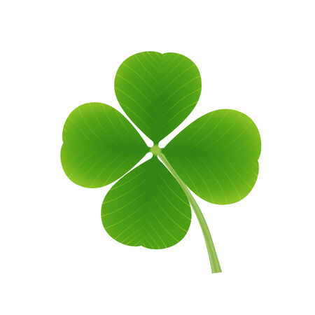 four objects: Four leaf clover