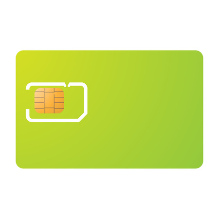 Sim card and carrier template Vector