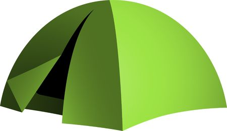 sheltering: Green dome tent
