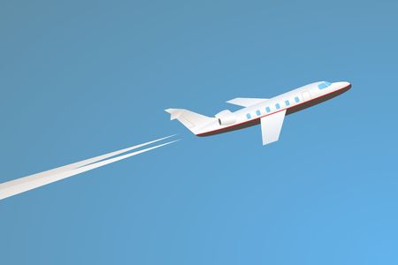 corporate jet: Private jet take-off