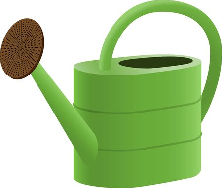 watering can: Green Watering Can