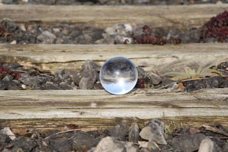 resourceful: A ball on wood