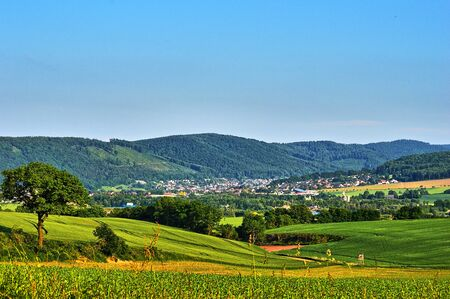 uplands: Weser Uplands in Summer Stock Photo
